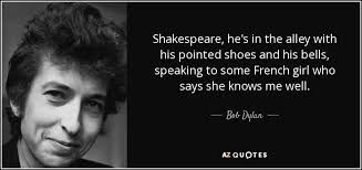 Bob Dylan and William Shakespeare: A Reference Guide
