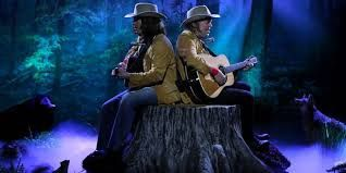 Two Neil Youngs on a Tree Stump at The Tonight Show Starring Jimmy Fallon