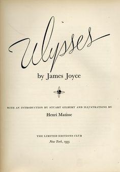 JAMES JOYCE &amp&#x3B; HENRI MATISSE