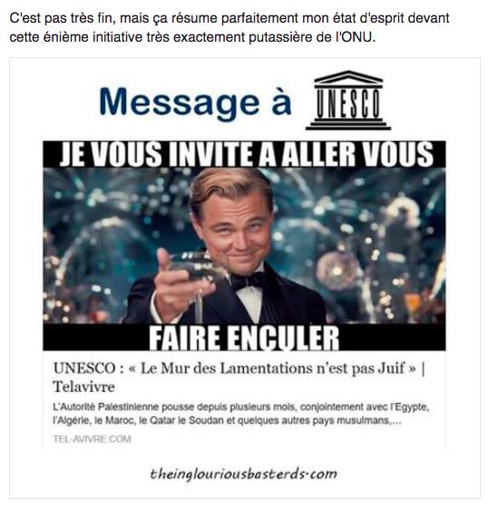 L'ANTISEMITISME DE L'UNESCO