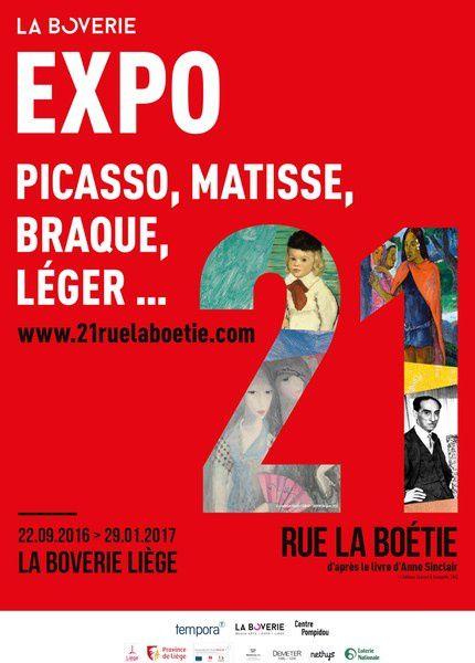 EXPOSITION SUR LE MARCHAND D'AT PAUL ROSENBERG &quot&#x3B; 21 RUE DE LA BOETIE&quot&#x3B; JUSQU'AU  29 JANVIER 2017 A LIEGE