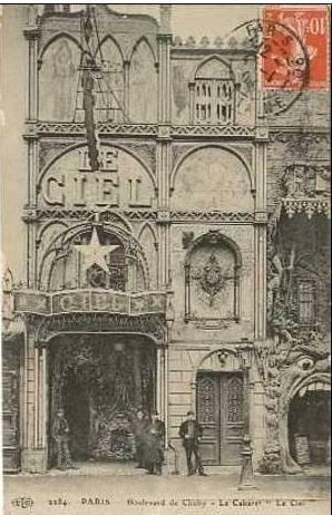 LE CABARET LE CIEL 53 BOULEVARD DE CLICHY