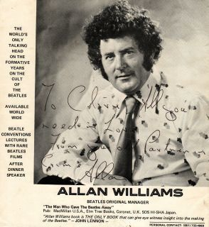 ALLAN WILLIAMS LE PREMIER MANAGER DES BEATLES VIENT DE MOURIR