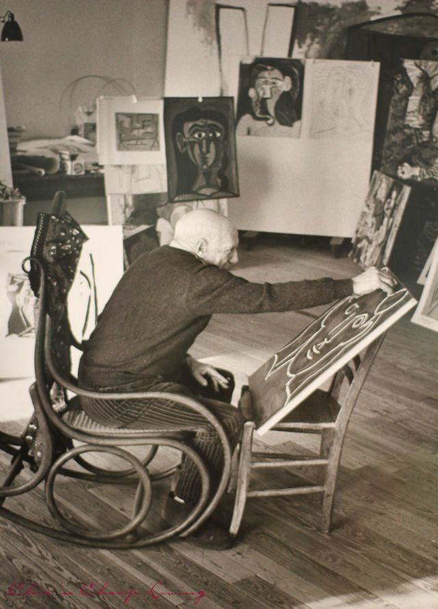 PICASSO ET LE ROCKING CHAIR