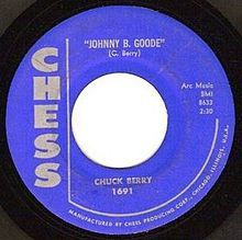 JOHNNY B GOODE  CHUCK BERRY R.I.P