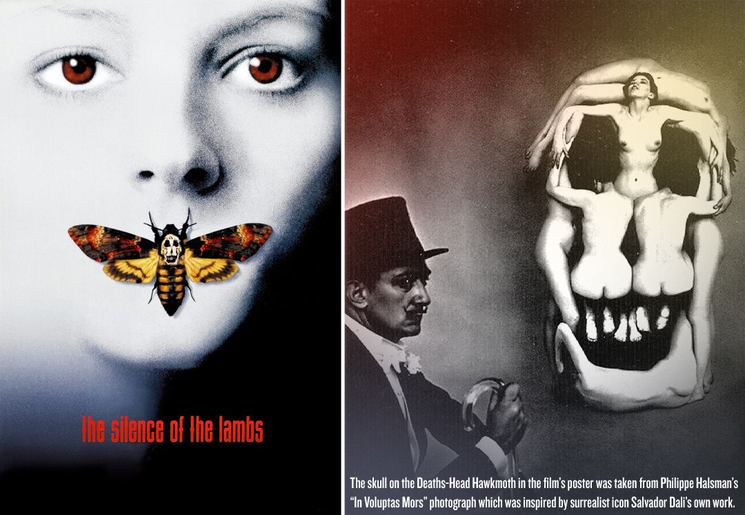 JONATHAN DEMME &amp&#x3B; SALVADOR DALI ( SILENCE OF THE LAMB'S POSTER)