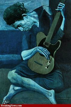 KEITH RICHARDS EN VIEUX GUITARISTE PAR PICASSSO