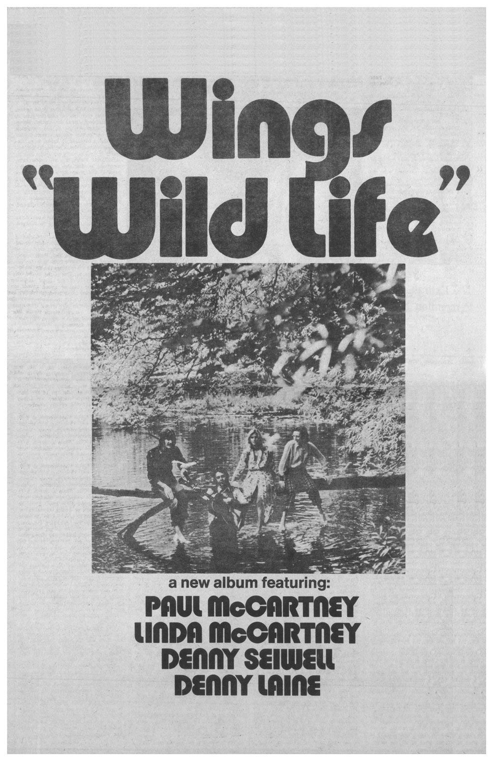 """PAUL MCCARTNEY AND WINGS' """"Wild Life"""" and """"Red Rose Speedway"""
