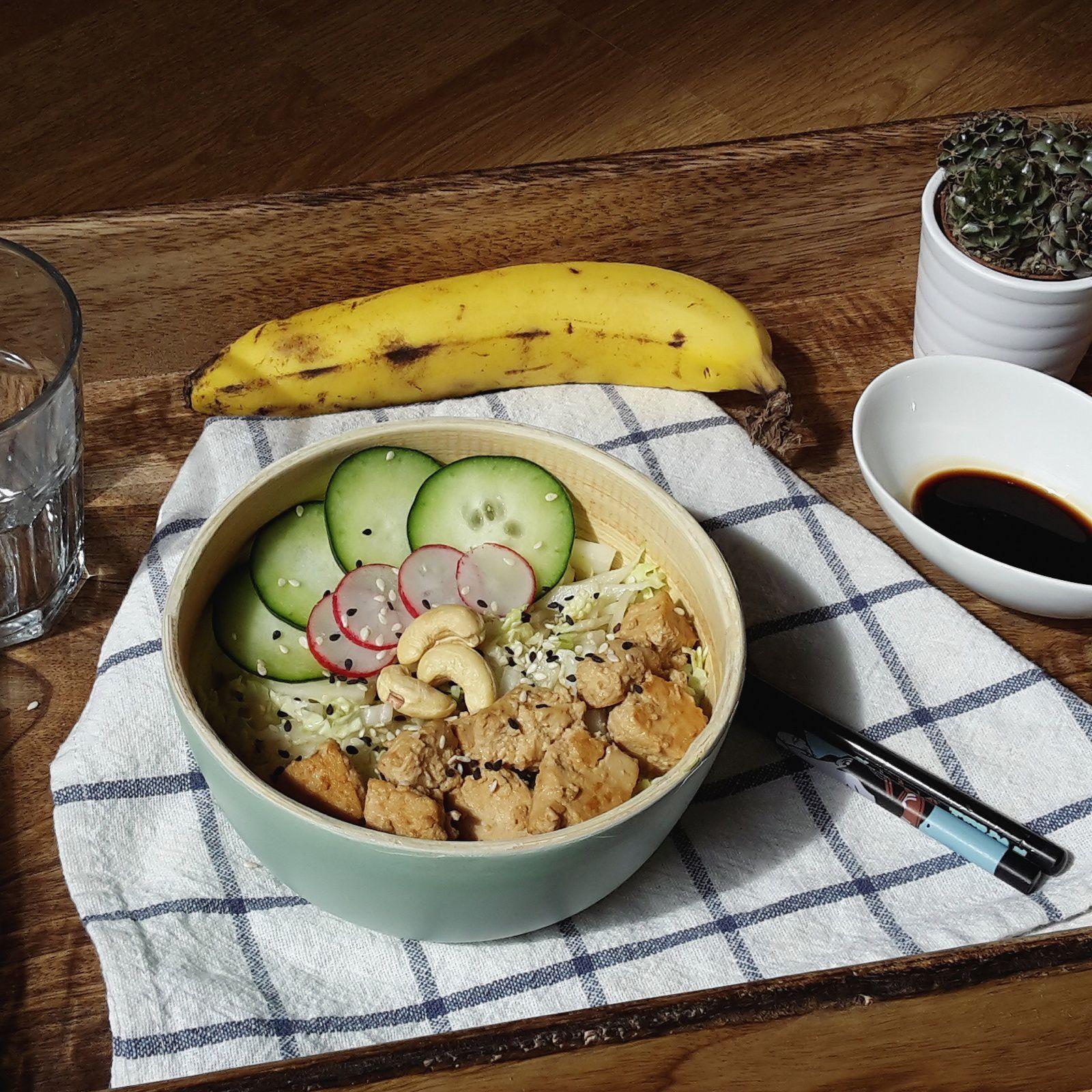 Salade de chou chinois et tofu à la japonaise