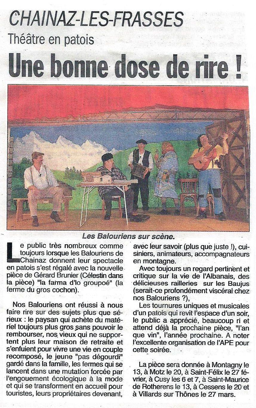 Paru dans le Dauphiné Libéré