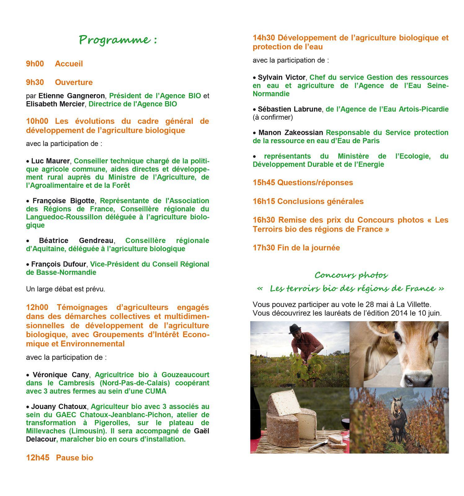 A ne pas manquer, les rencontres professionnelles de la Bio mardi 10 juin