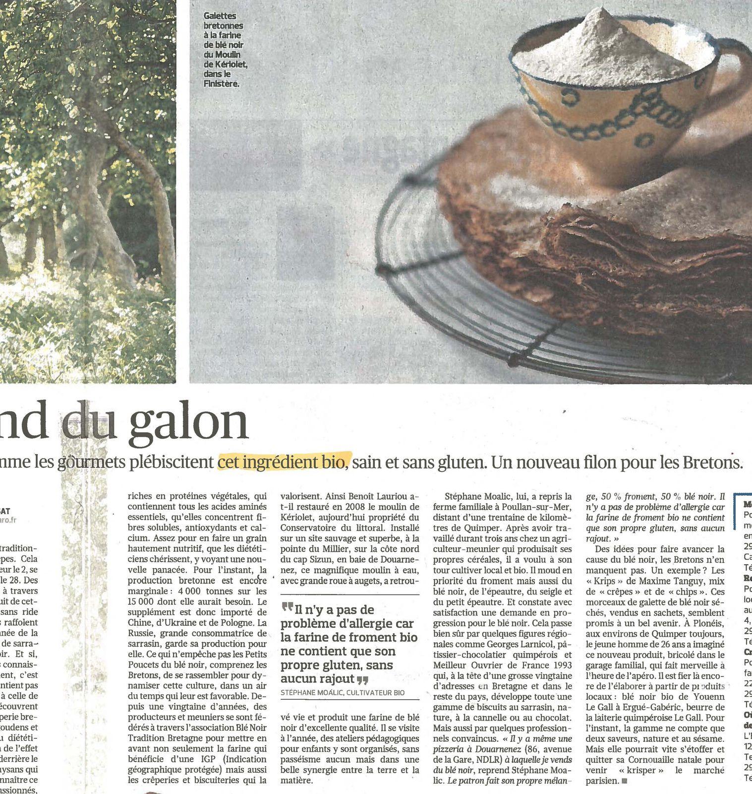 Crêpes, galettes... vu dans Le Figaro du samedi 28 janvier