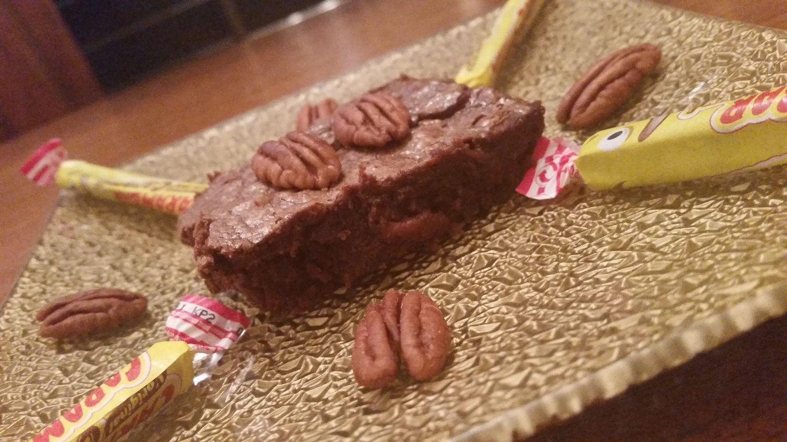 Brownie chocolat carambar et noix de pécan