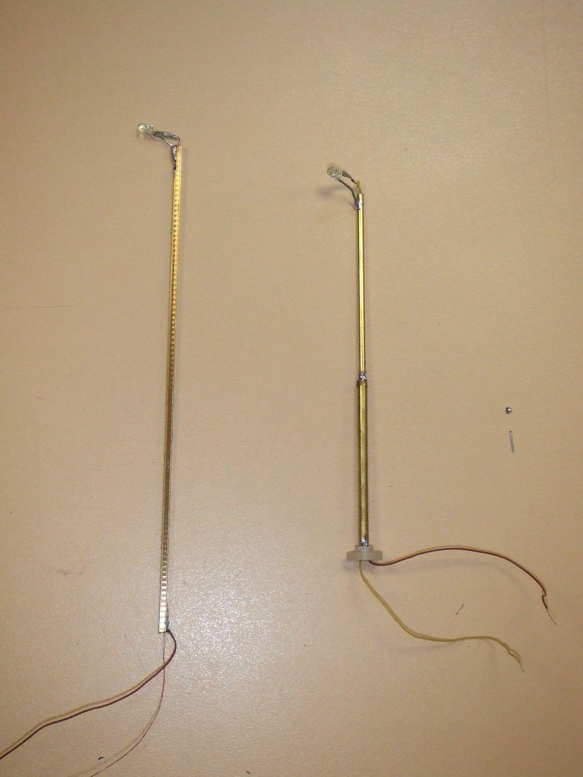 Deux types de lampadaires « prototypes».