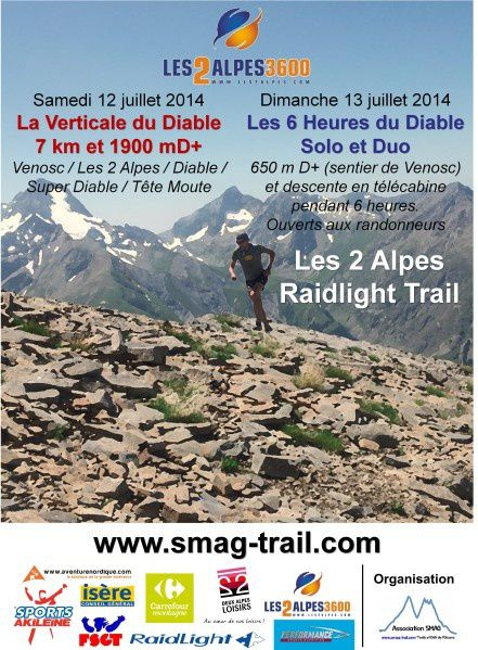 2 Alpes Raidlight Trail : Verticale et 6h du Diable (120714)