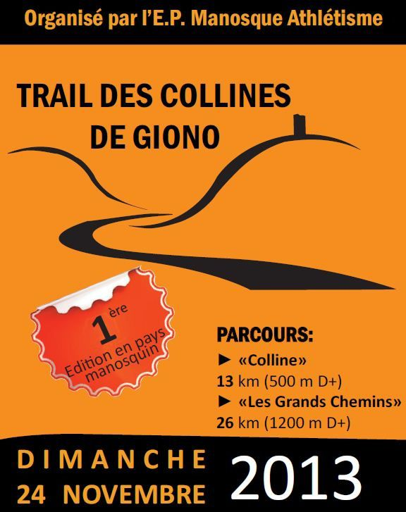 Trail des Collines de GIONO : 13km / 580d (241113)