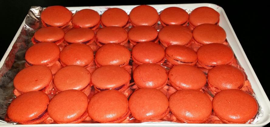 Macarons framboise/chocolat blanc