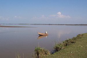 A view of River Chenab near Sialkot. 中文: 錫亞爾科特...
