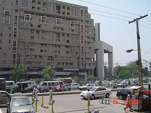 A busy road in Lahore, Pakistan