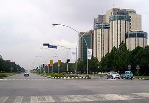 Jinnah Avenue in Islamabad before renovation.