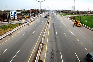 The Lahore Ring Road, currently under construc...