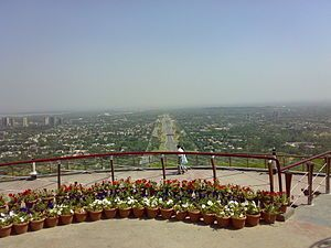 English: View of Islamabad from Daman-e-Koh Park