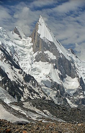 English: Laila Peak (Hushe Valley), 6096 m, (G...