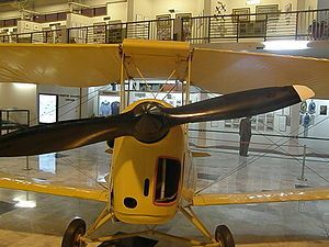 English: A Tiger Moth biplane retired by the P...