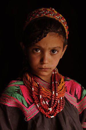 English: 'Kalash girl' (Kalash people live in ...