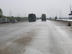 National Highway, newly carpeted. Hyderabad,, ...