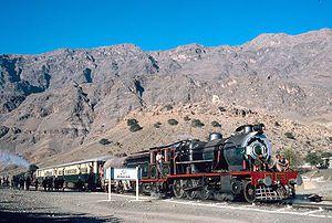 English: The Khyber Railway. A charter train i...