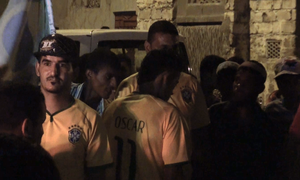 Lyari enjoys the football World Cup in peace