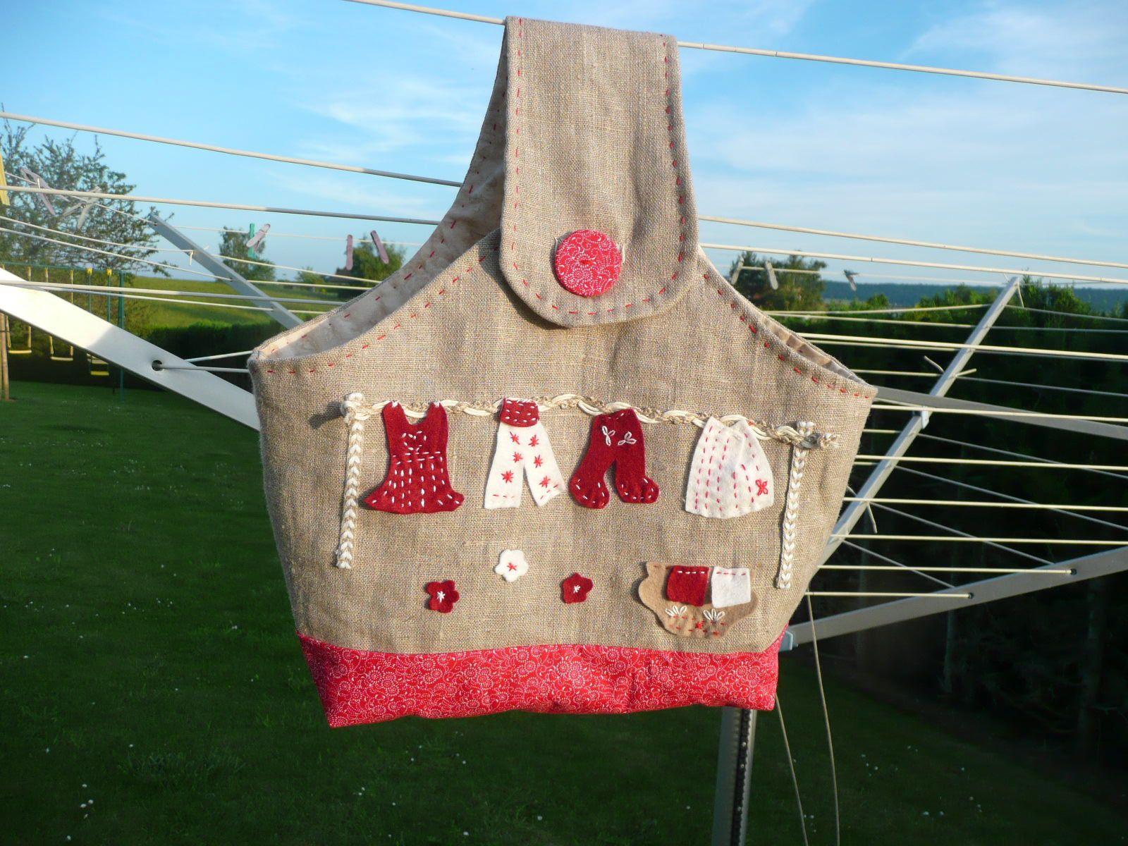 sac pour pinces linge passions et loisirs de nicole. Black Bedroom Furniture Sets. Home Design Ideas