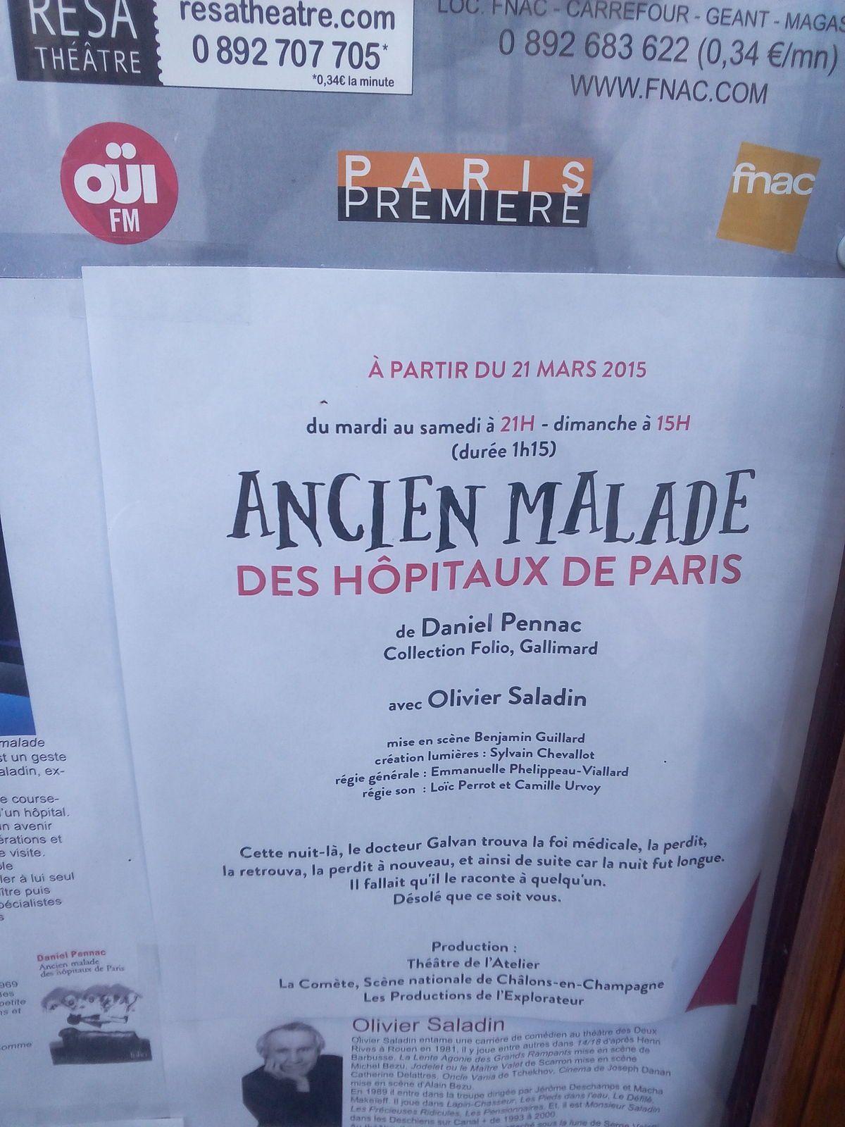Ancien malade des hôpitaux de Paris au théâtre de l'Atelier: une pièce singulière, drôle et enthousiasmante