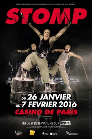 Vibrer avec Stomp au Casino de Paris