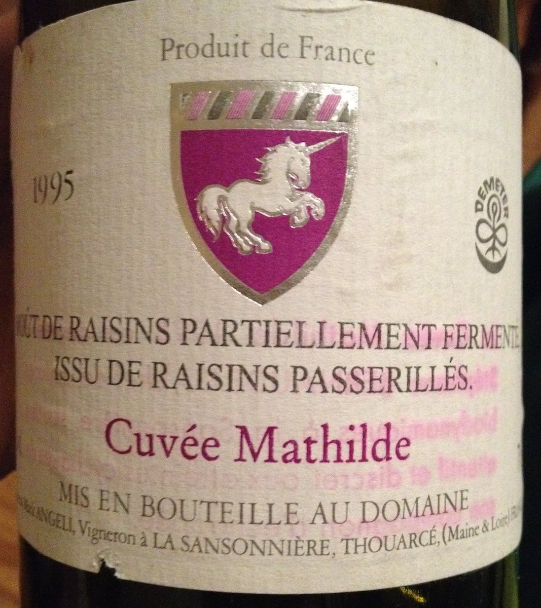 angeli cuvee mathilde 1995
