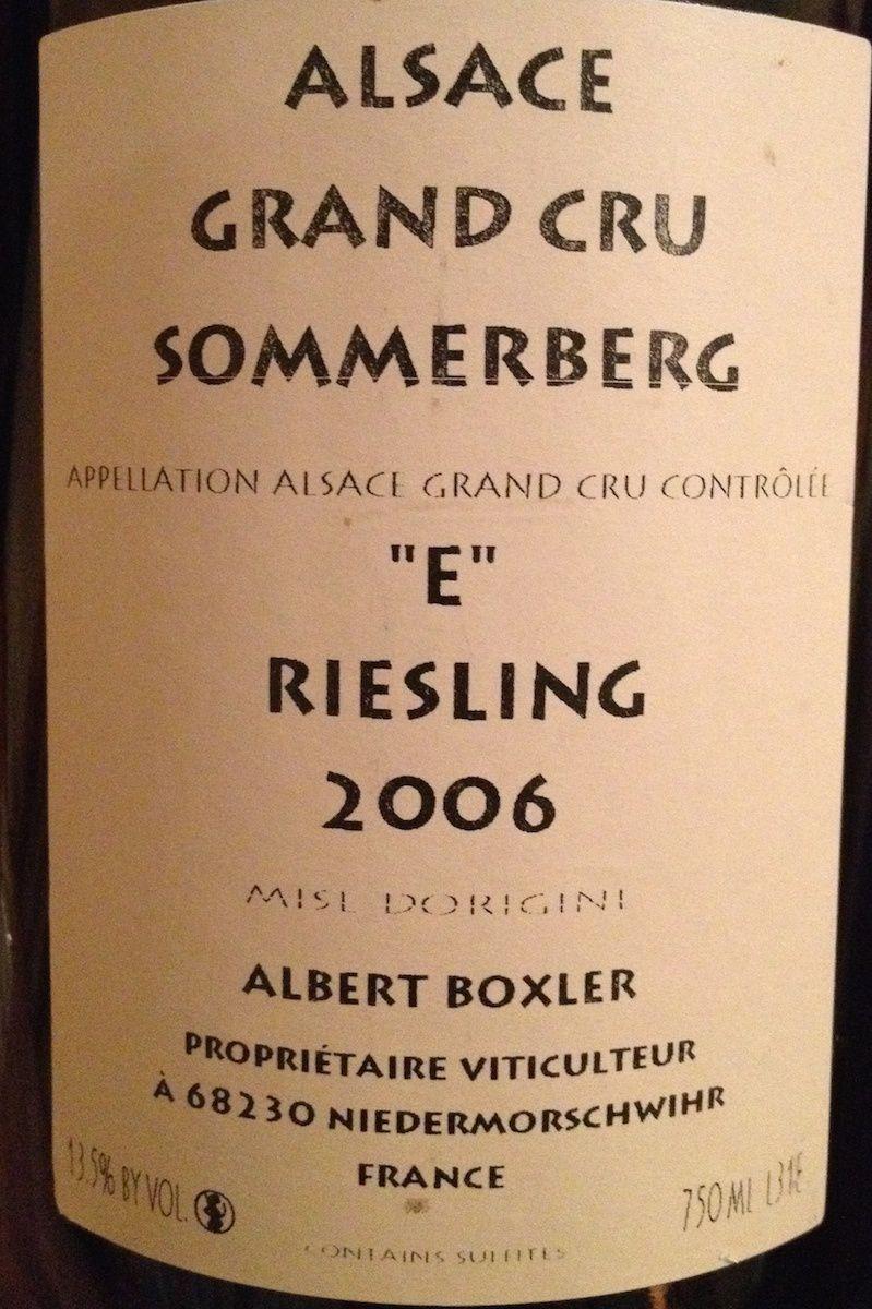Boxler - Riesling Sommerberg Cuvee E 2006