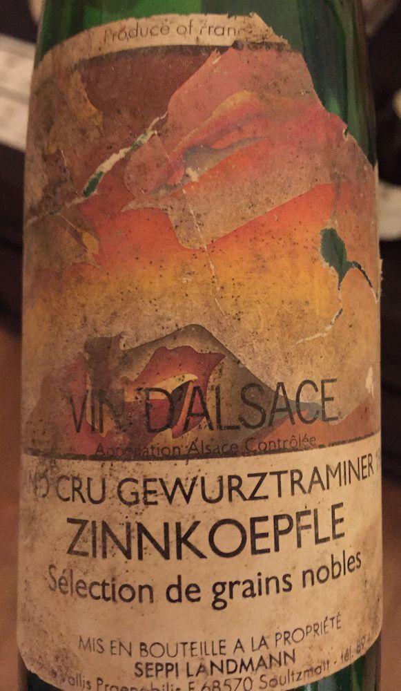 Seppi Landmann  - Gewurztraminer Zinnkoepfle 1989