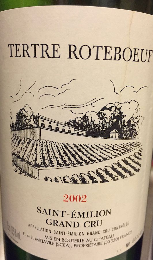 Mitjaville - Tertre Roteboeuf St Emilion 2002