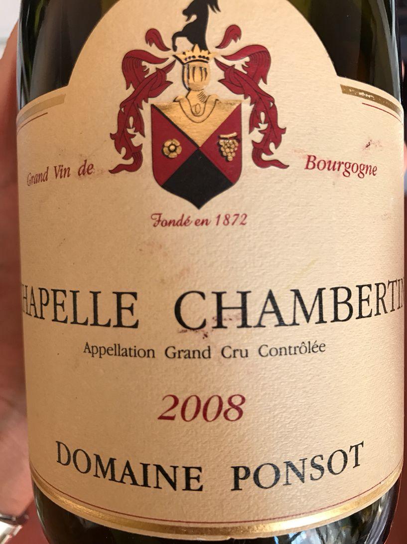 Domaine Ponsot Chapelle Chambertin 2008