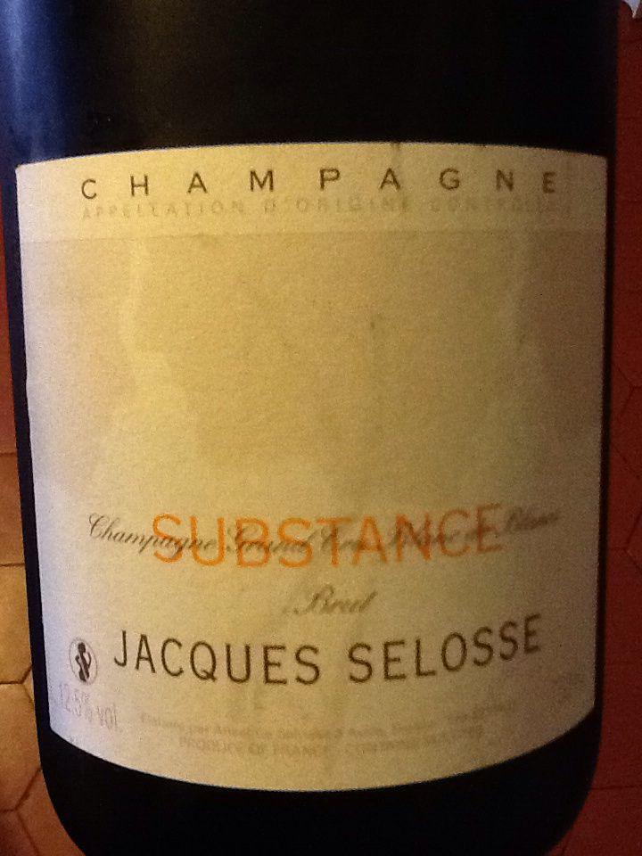 Selosse - Champagne Substance dégorgement 2007