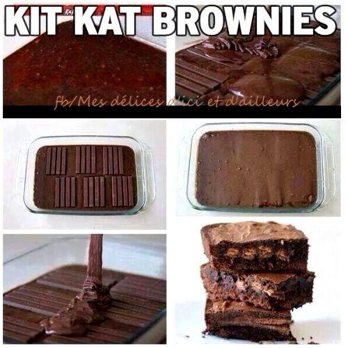Astuce cuisine des kit kat dans votre p te g teau pour cr er un brownie original mes - Creer un blog de cuisine ...