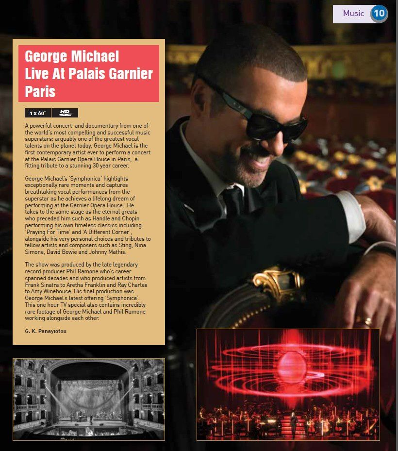 GEORGE MICHAEL LIVE AT PALAIS GARNIER PARIS