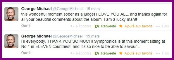 TWEETS GEORGE MICHAEL DU 19 MARS 2014
