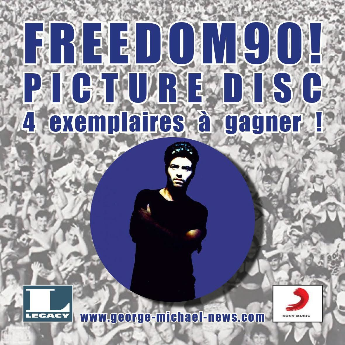4 PICTURE DISC FREEDOM90! A GAGNER AVEC SONY LEGACY FRANCE !!