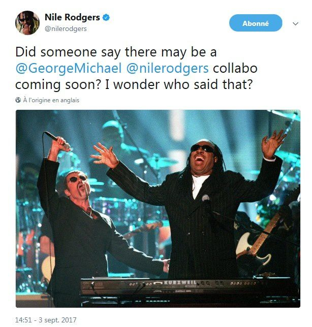 LA COLLABORATION GEORGE MICHAEL / NILE RODGERS A DECOUVRIR BIENTOT !