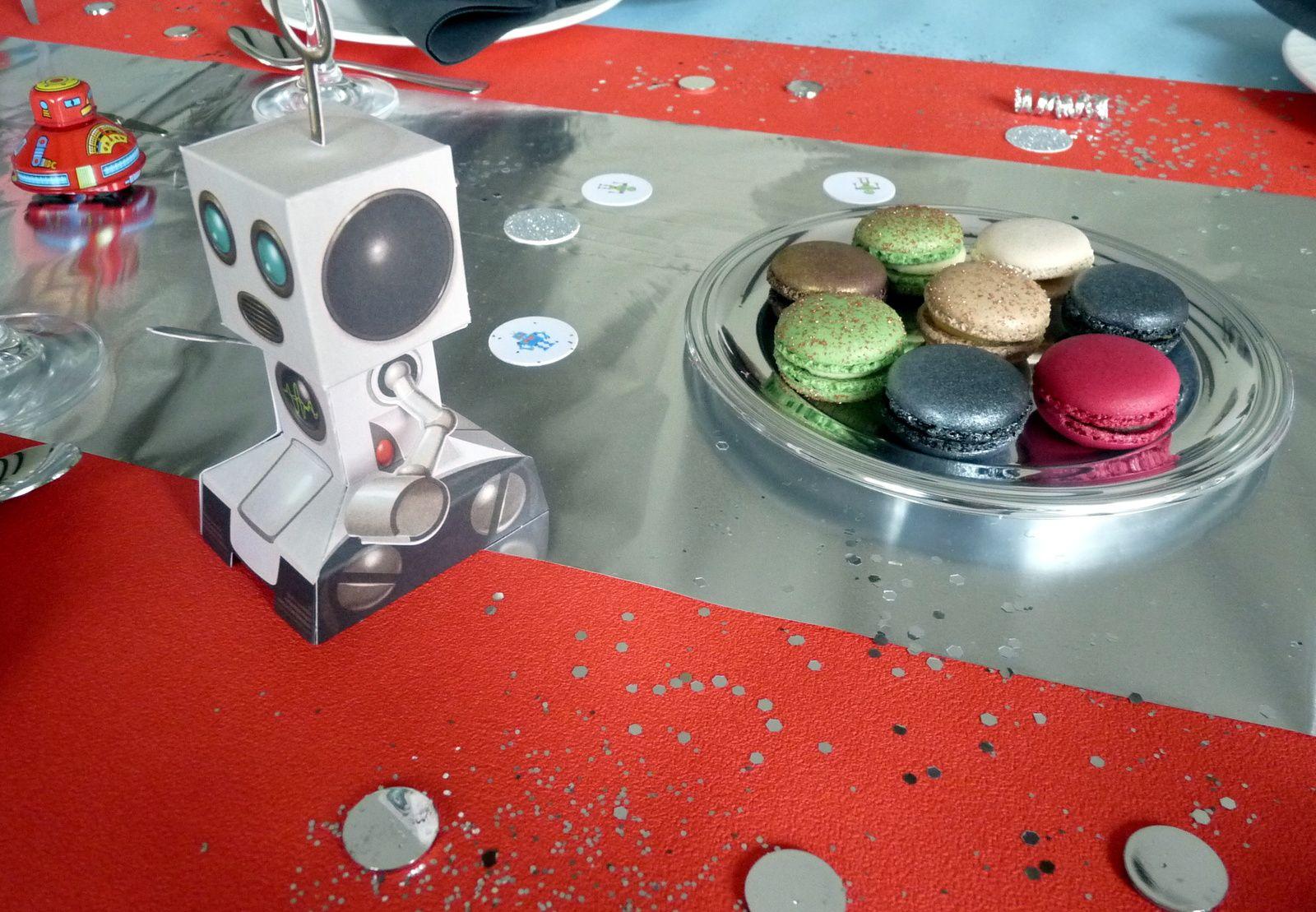 Un anniversaire de robot # la décoration