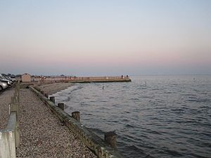 English: Sand Spit Patchogue Beach 2009 ... St...