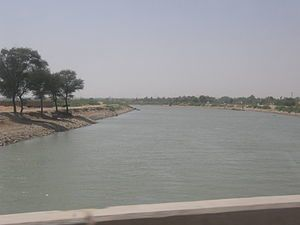 The Indus River flows past the city of Hyderab...