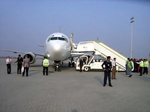 Boeing 737 of PIA at SIAL, Pakistan